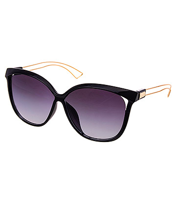 Blue Banana Large Blue Tint Sunglasses (Black)