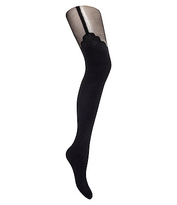 Blue Banana Stocking Look Tights (Black)