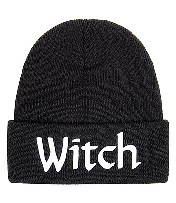 Blue Banana Witch Beanie Hat (Black)