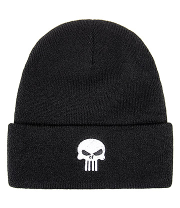 Blue Banana Skull Beanie Hat (Black)
