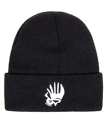 Blue Banana Punk Skull Beanie Hat (Black)