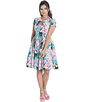Hell Bunny Toucan Dress (Multicoloured)
