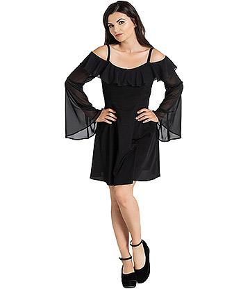Hell Bunny Evanora Dress (Black)