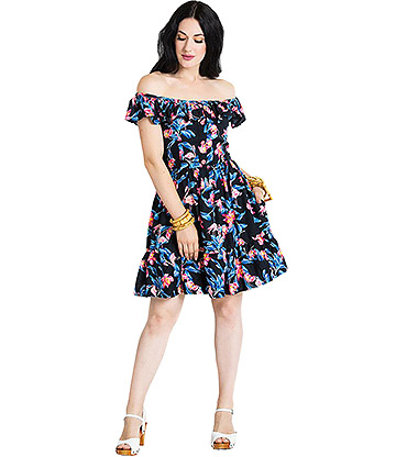 Hell Bunny Florida Mini Dress (Multicoloured)
