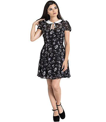 Hell Bunny Elspeth Mini Dress (Black)