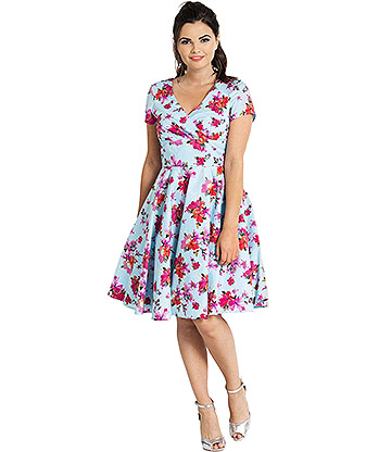 Hell Bunny Alyssa Mid Dress (Blue)