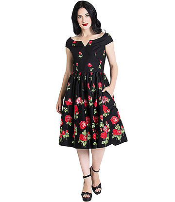 Hell Bunny Marlena 50s Dress (Black)