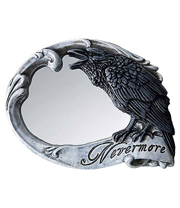 Alchemy Gothic Nevermore Hand Mirror (Grey)