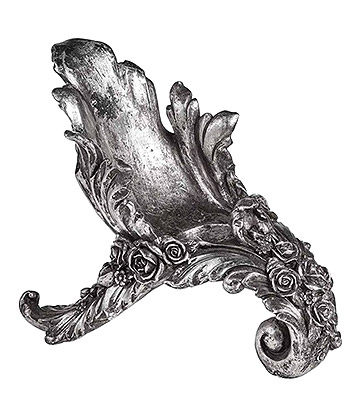 Alchemy Gothic Antique Rose Wine Holder (Silver)
