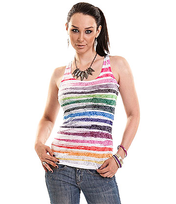 Innocent Icicle Striped Vest Top (Multicoloured)