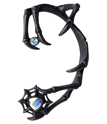 Alchemy Gothic Demon Ohrring (Schwarz)