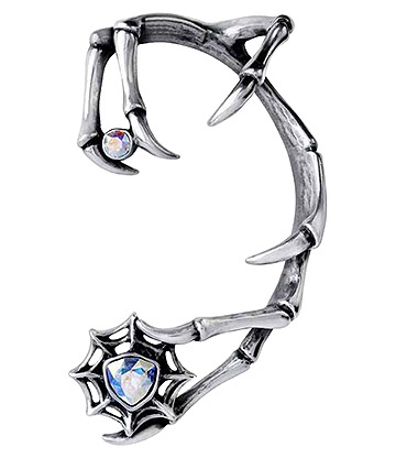 Alchemy Gothic Demon Earring (Silver)