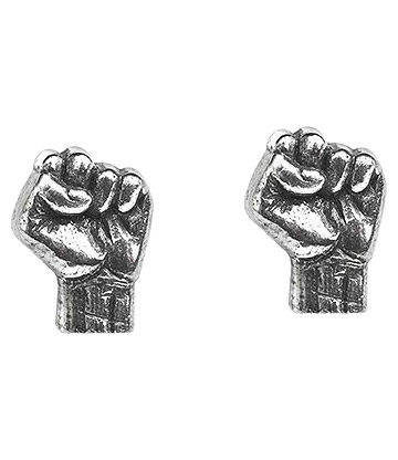 Alchemy Rocks Rage Against The Machine Fist Stud Earrings (Pewter)