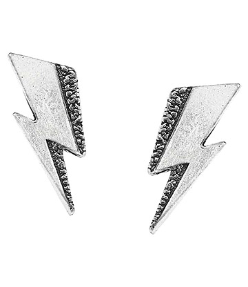 Alchemy Rocks David Bowie Flash Stud Earrings (Pewter)