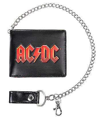 Official AC/DC Wallet & Chain (Black)