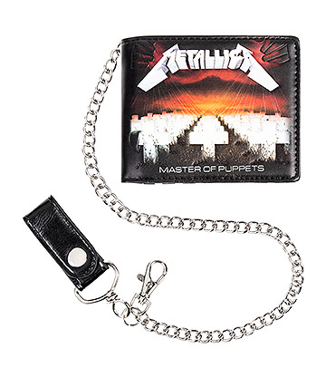 Official Metallica Master Of Puppets Wallet & Chain (Black)