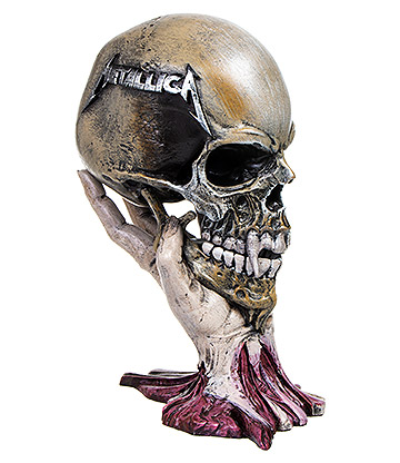 Nemesis Now Metallica Sad But True Skull Sculpture