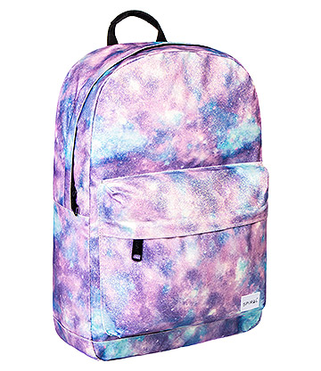 Spiral Glitter Galaxy Cosmos Backpack (Purple)