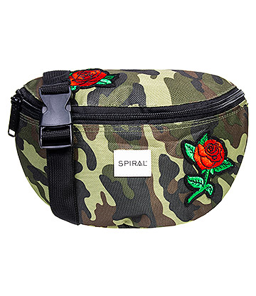 Spiral Camo Rose Patches Bum Bag (Khaki)