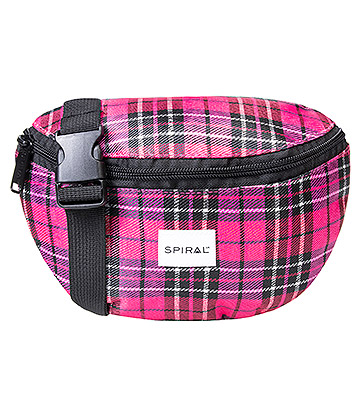 Spiral Plaid Bum Bag (Pink)