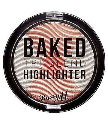 Barry M Tri Blend Baked Highlighter (Silver Solstice)