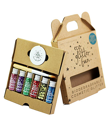 Eco Glitter Fun Biodegradable Body Glitter 6 Pack (Pride)