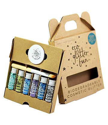 Eco Glitter Fun Biodegradable Body Glitter 6 Pack (Sky)
