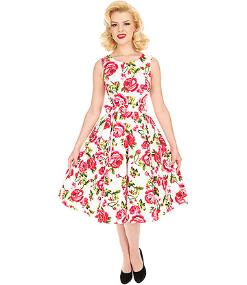 H&R Sweet Rose Dress (White)