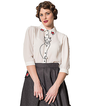 Banned Retro Foxy Blouse (White)