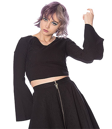 Banned Scratch Goth Top (Black)