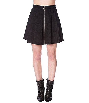 Banned Scratch Skater Skirt (Black)