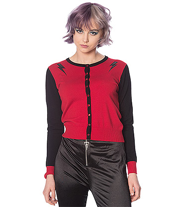 Banned Thunderbolt Cardigan (Red)