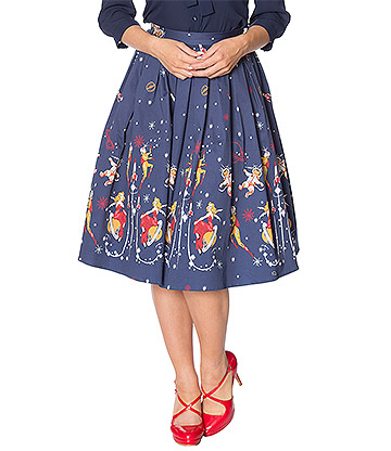 Banned Space Vamp Skirt (Blue)
