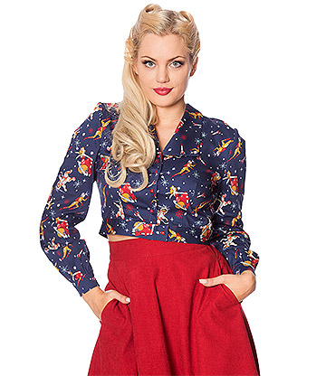 Banned Space Vamp Blouse (Blue)
