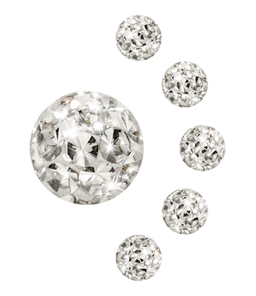 Blue Banana Surgical Steel 4mm Glitter Ball Add On (Crystal)