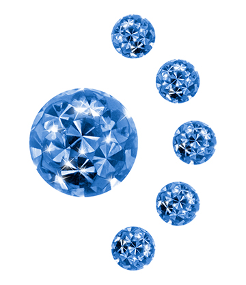 Blue Banana Surgical Steel 4mm Glitter Ball Add On (Zircon)