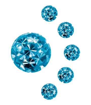 Blue Banana Surgical Steel 4mm Glitter Ball Add On (Aqua)