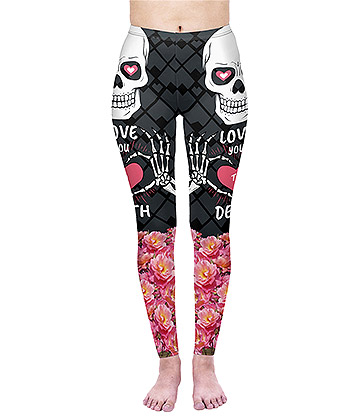 Kukubird Love You To Death Leggings (Black)