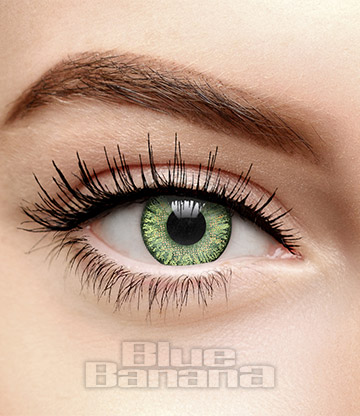 Natural Blend 1 Day 10 Pack Coloured Prescription Contact Lenses (Green)