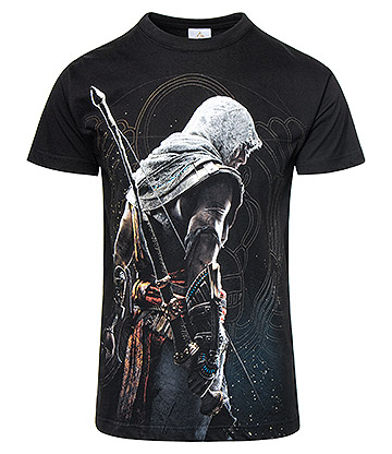 Spiral Direct Assassins Creed Origins Bayek T Shirt (Black)