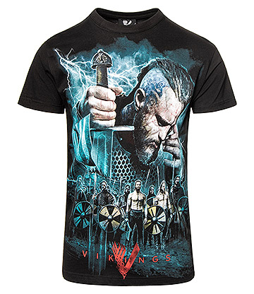 Spiral Direct Vikings Battle T Shirt (Black)