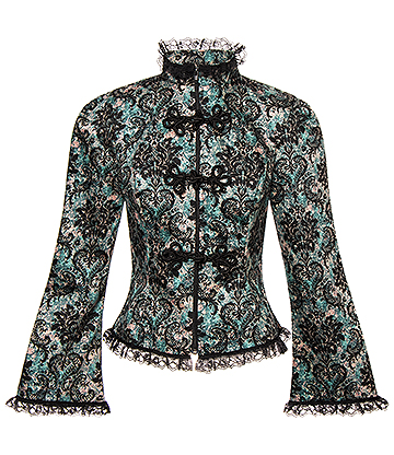 Golden Steampunk Regal Jacket (Black/Green)
