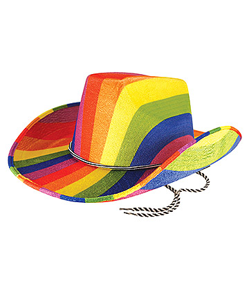 Blue Banana Rainbow Pride Hat (Multicoloured)