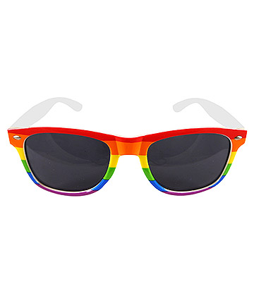 Blue Banana Pride Glasses (Rainbow)