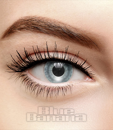 Mirror Coloured 30 Day Prescription Contact Lenses (Silver)