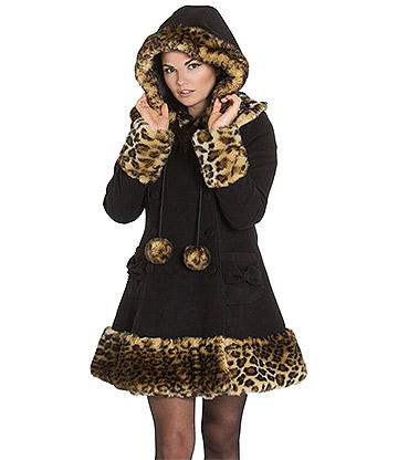 Hell Bunny Leah Jane Coat (Black)