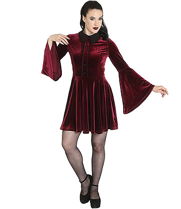 Hell Bunny Prudence Dress (Wine)