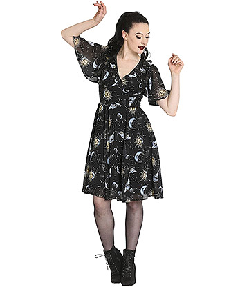 Hell Bunny Solaris Dress (Black)