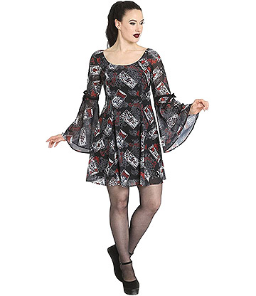 Hell Bunny Tarot Mini Dress (Black)