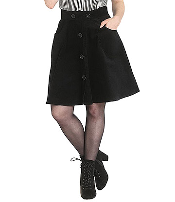 Hell Bunny Wonder Years Mini Skirt (Black)